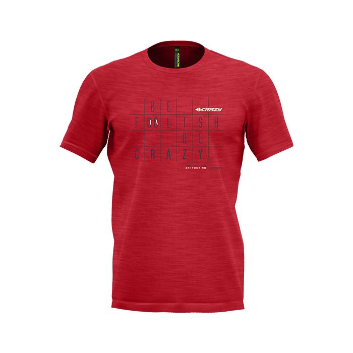 CRAZY T-Shirt LIVE TO CLIMB RED