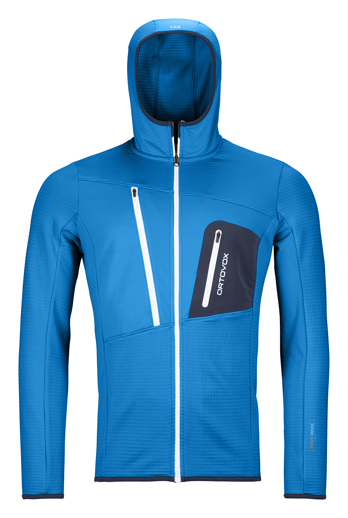 Fleece Ortovox Fleece Grid Hoody Safety Blue