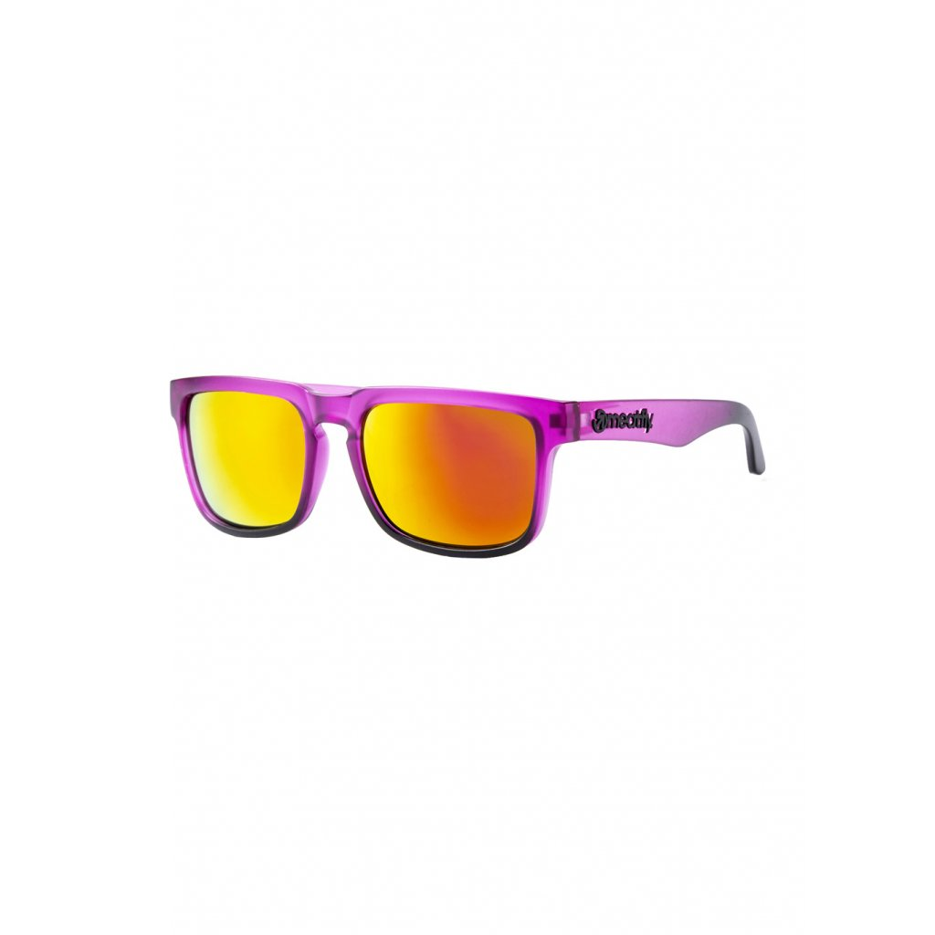MEATFLY MEMPHIS SUNGLASSES F - PURPLE GLOSSY