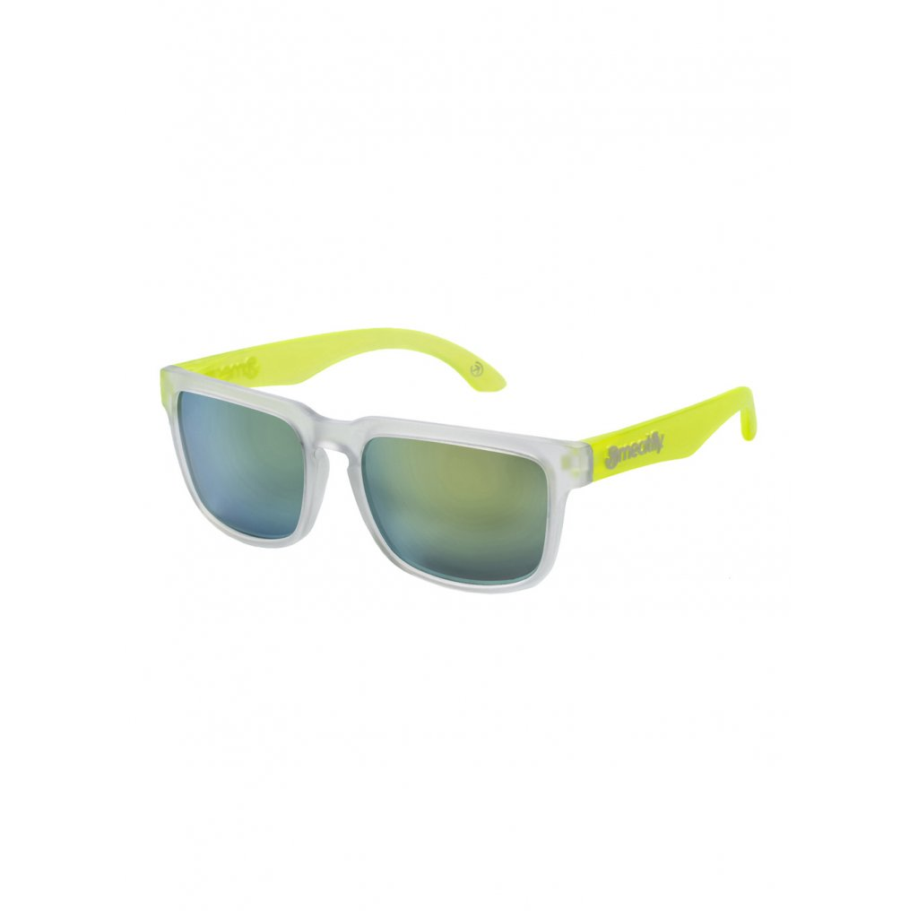MEATFLY MEMPHIS 2 SUNGLASSES G - CLEAR, LIME