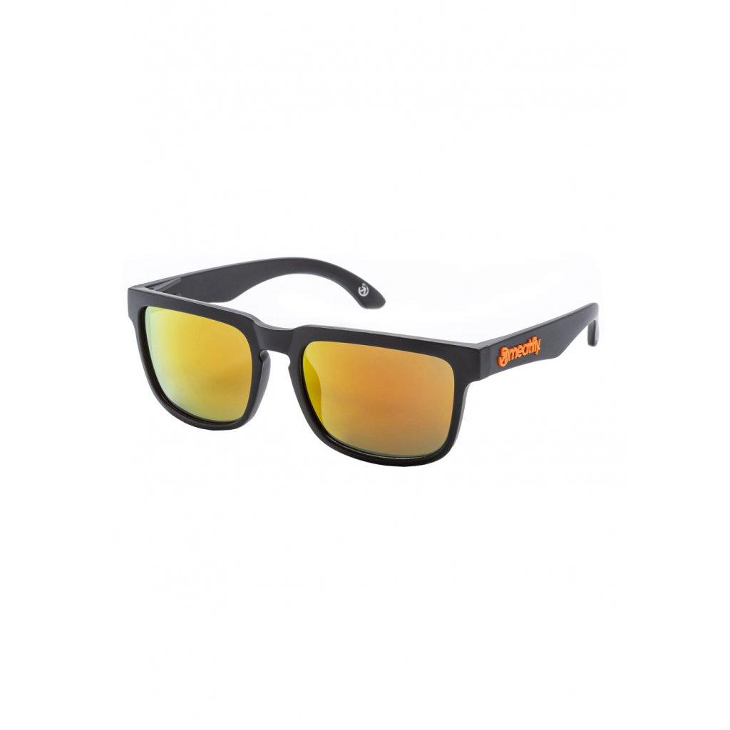 MEATFLY MEMPHIS 2 SUNGLASSES A - BLACK, ORANGE