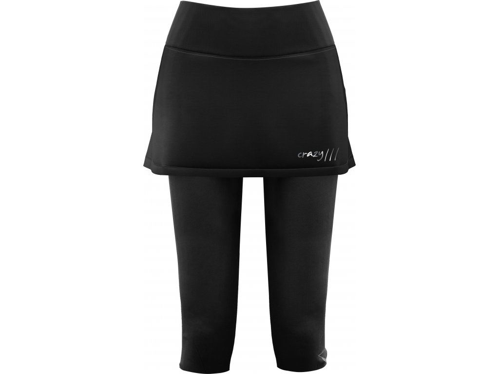 CRAZY IDEA SUKNĚ SKORT 3/4 SLASH WO BLACK